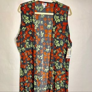 LuLaRoe Jackets & Coats - NWT LULAROE JOY LONG VEST SIZE XL